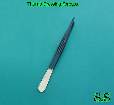 """5 Thumb Dressing Forcep 7"""" Black Coated Surgical Instruments Veterinary ENT"""