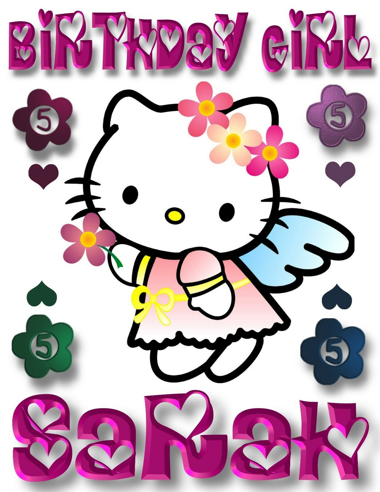 New Custom Personalized Hello Kitty Angel T Shirt Party Favor Birthday gift