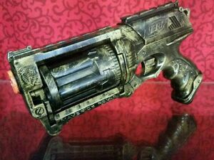 GOLD-Custom-Painted-Nerf-Dart-Gun-Maverick-Rev-6-N-Strike-Cosplay-Comic-Con-fun