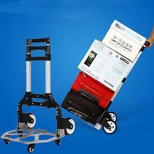 alu sackkarre klappbar 80 kg transportkarre stapelkarre handkarre karre leicht ebay. Black Bedroom Furniture Sets. Home Design Ideas