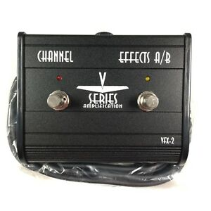 v series amplification vfx 2 channel effects a b switch foot pedal new w cable ebay. Black Bedroom Furniture Sets. Home Design Ideas