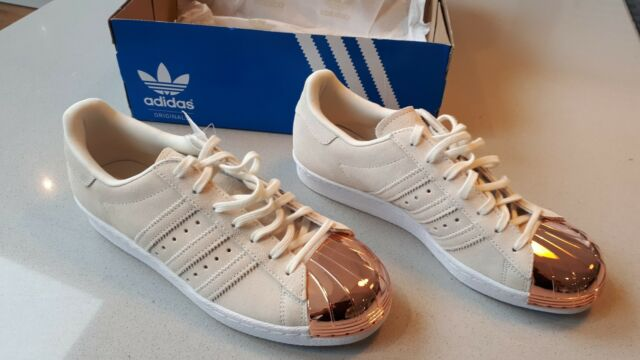 san francisco 1fd97 7ba9d adidas Superstar 80 S Metal Toe Womens Trainer Shoe S75057 UK Size 7