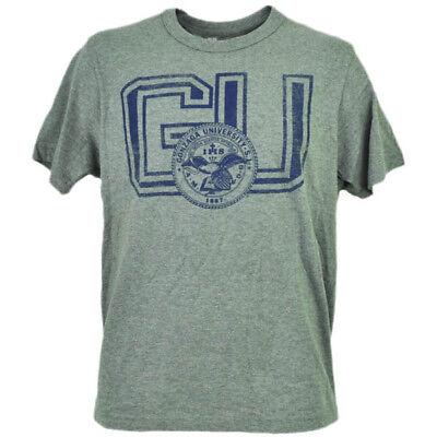 Ncaa Gonzaga Bulldogs Grau T-shirt Herren Distressed Kurzarm Rundhals Gu Perfekte Verarbeitung Baseball & Softball