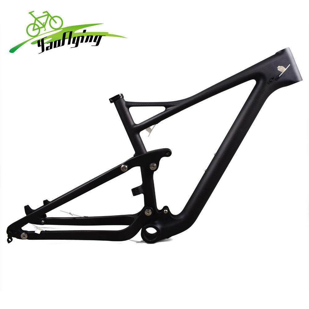 T1000 Carbon MTB Suspension Bike Frame Disc Brake Bicycle Frameset 29er