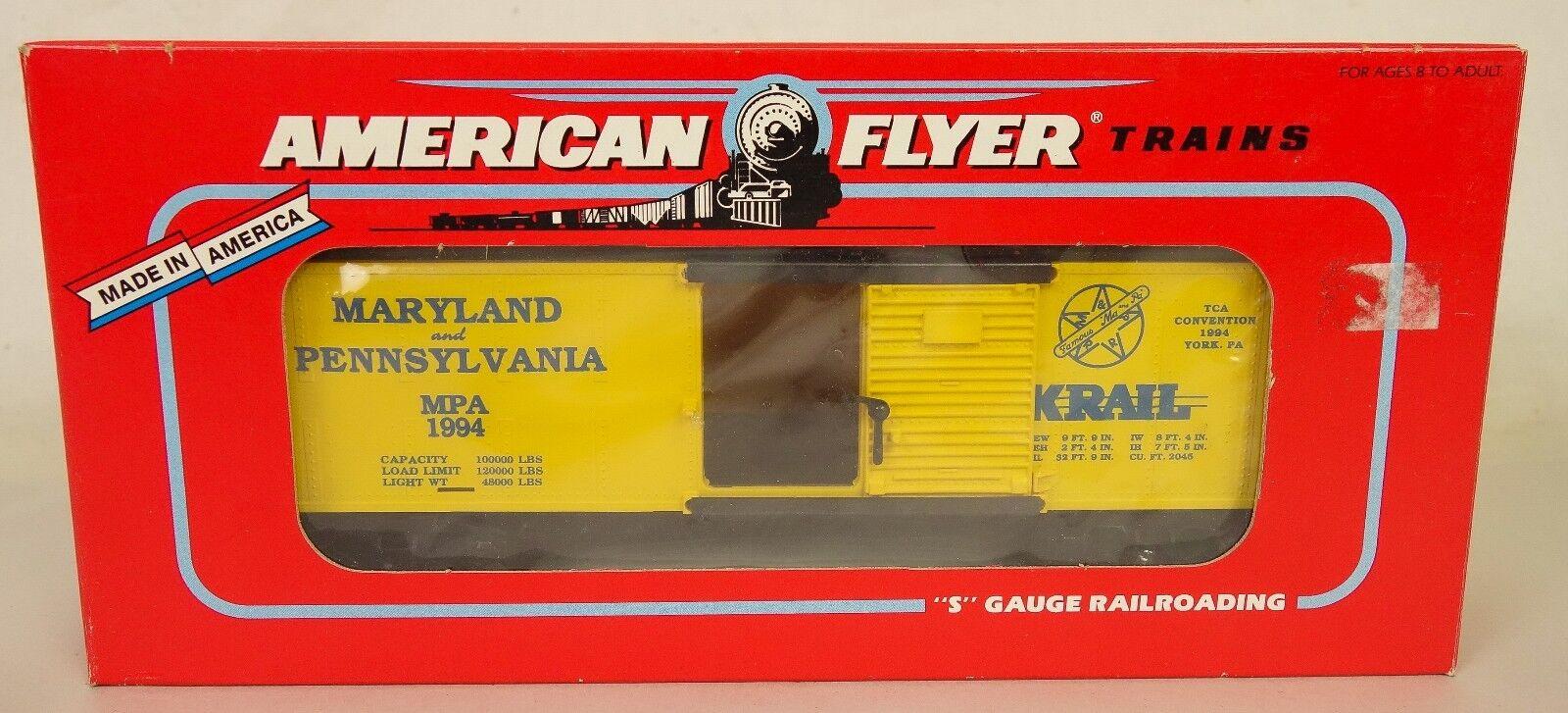 American Flyer  6-48487 TCA 1994 convención Maryland & PA. coche de caja-Nuevo En Caja