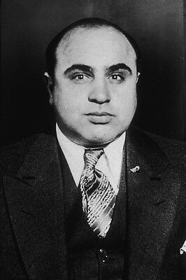 """1 """"scarface"""" Al Capone 1931 Pure White And Translucent New 5x7 Photo Mobster Gangster Public Enemy No"""