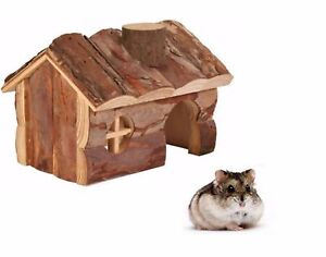 TRIXIE-NATURAL-WOODEN-HENDRIK-DWARF-HAMSTER-MOUSE-HOUSE-CAGE-ACCESSORY-6171