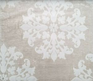 Chenille-UPHOLSTERY-CHENILLE-FABRIC-BY-THE-YARD-Floral-medallion-plain-fabric