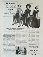 1938 Vintage Womens REAL SILK Hosiery Stockings Morning Afternoon Evening  Ad