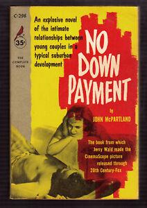 No-Down-Payment-John-McPartland-vintage-1957-Cardinal-1st-Ed-GGA-sleaze-EX