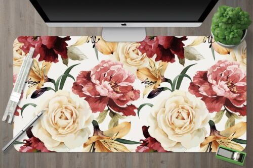 3D Colorful Flowers 345 Nonslip Office Desk Mouse Mat Large Keyboard Pad Game