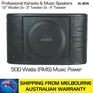 ACNOS-KARAOKE-MUSIC-SPEAKERS-SL-805-500-WATTS-RMS-PAIR