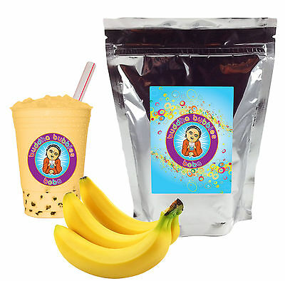 Banana Boba/ Bubble Tea Powder by Buddha Bubbles Boba (1 Pound | 453 Grams)