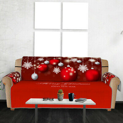 Merry Christmas Pet Dog Couch Sofa Furniture Protector With Strap Xmas Home Deco