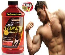 L-Carnitine 5000X liquid Maximum Endurance Fat Burner 16Oz TOTAL metabolic