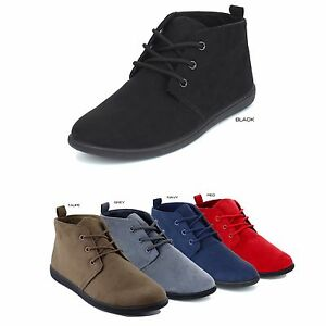 6e83bc00e864 NEW Women Classic Lace Up Oxford Flat Heel Ankle Boots Booties Size ...