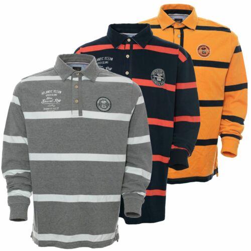 Kitaro Polosweat Polo Shirt Sweat Herren Langarm Baumwolle Plusgröße Übergröße