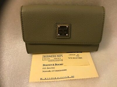 nwt dooney & bourke olive leather trifold wallet wbelv0195 olol