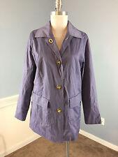 ISAAC MIZRAHI LIVE S Purple Rain Coat Jacket Excellent water resistant trench