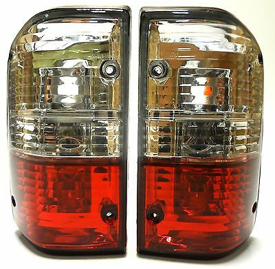 Rear Tail Light Signal Lamp Set for Nissan Patrol GR Y60 87-97 Crystal Red White