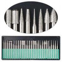 30pc Diamond Burr Set 1/8 Shank 120 Grits Dremel Type Rotary Tool 82327db