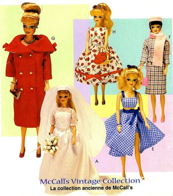 Mccall 1089 Vintage Doll Clothes Bridal Gown Negligee Suit Pattern 22 Tall For Sale Online Ebay
