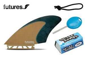Futures-Fins-Rasta-twin-fin-Set-Leash-String-Fin-Key-amp-Wax