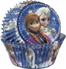 DISNEY FROZEN Birthday Party BAKING CUPS cupcake papers 50 liners Elsa Anna Olaf