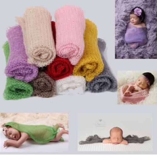 60*40cm Nouveau-Né Bébé Garçon Fille Stretch Wrap Infant Photographie Photo Prop Couverture