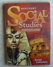 Harcourt Social Studies 7/7th ANCIENT CIVILIZATIONS history NEW Audio CD-Rom