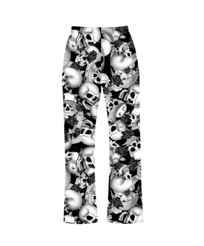 Ropa De Mujer Para Mujeres Craneo Rosas Banner Pijama Ropa De Dormir Ropa De Dormir Pantalones Del Salon Gotico Punk Emo Ropa Calzado Y Complementos Marine City Vn