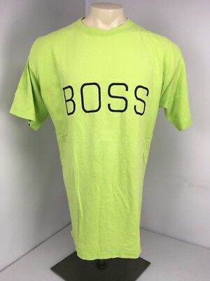 lime green hugo boss t shirt