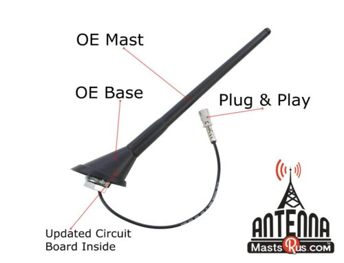 """Volkswagen JETTA Antenna BASE /& MAST Kit  /""""OE/"""" 1999-2005 FUBA VW"""