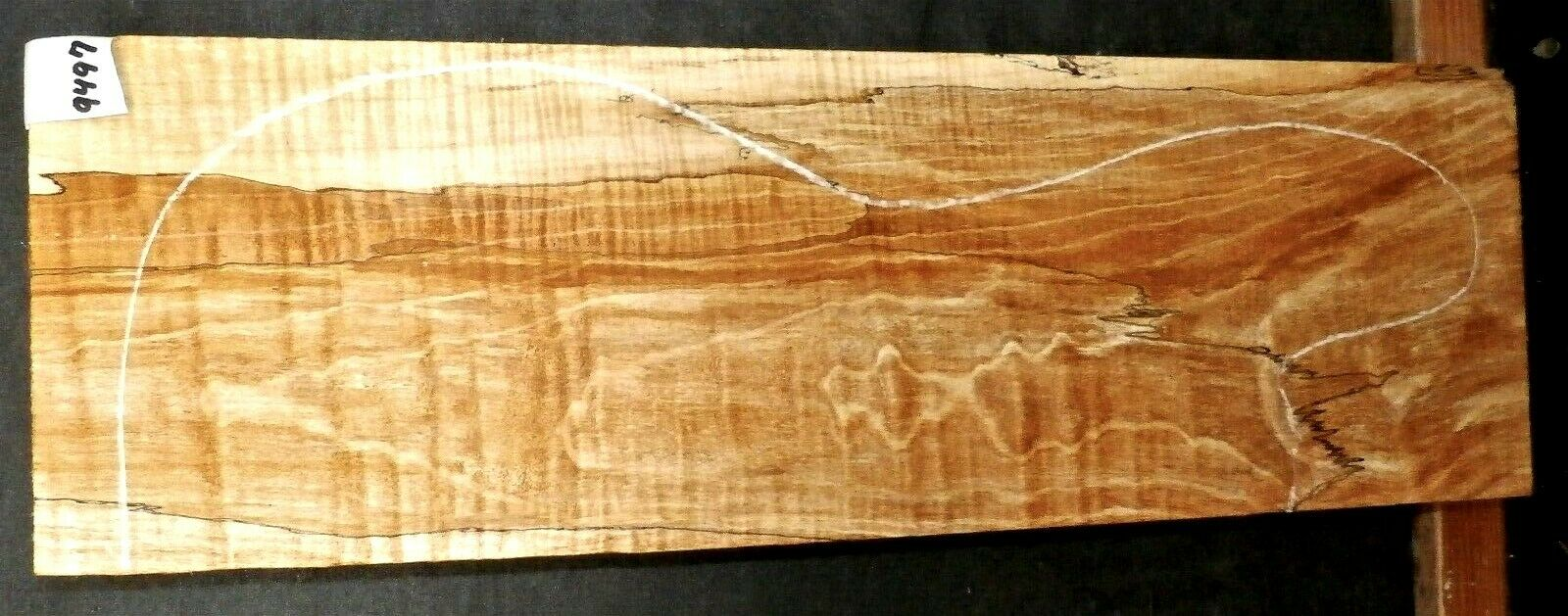 Flame Spalted Maple Instrument Wood  9497 Luthier Guitar Lumber  22.5x 7.25x 3