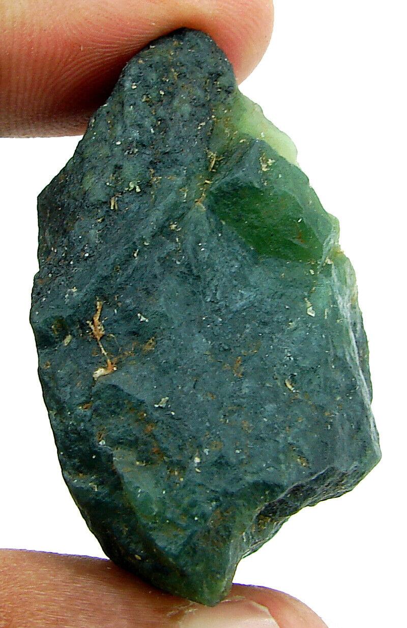 183.00 CT Naturel Brut Vert Serpentine Desseré Pierre Précieuse Cristal - 4495