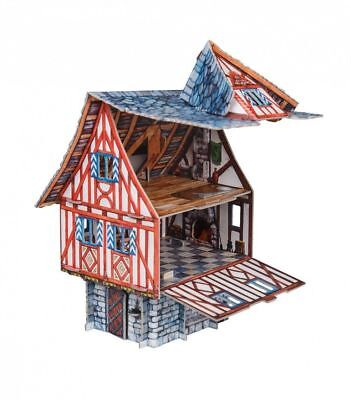 Villa Chateau Building War Games Terrain Landscape Scenery Cardboard Model Kit
