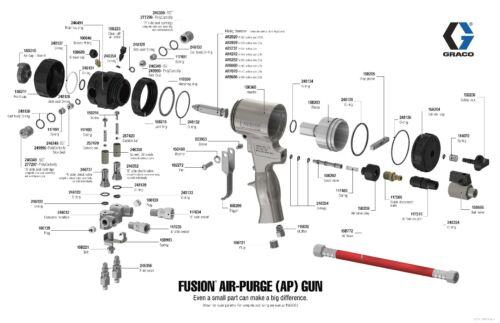 Check Valve ISO A-Side 246731 Graco Fusion Air Purge AP