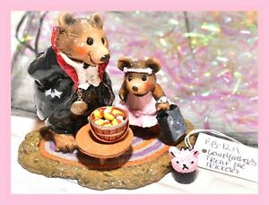 ❤️Wee Forest Folk BB-12a Grandfather's Treat for Trickers Bear Halloween WFF❤️
