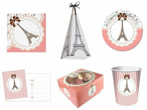 Paris Paris ( Party Geschirr, Banner, Ballons & Dekorationen) Creative