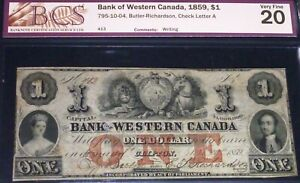 1859-BANK-OF-WESTERN-CANADA-1-GREAT-CONDITION