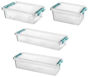 Small Clear Plastic Storage Boxes With Lids Clip Locking