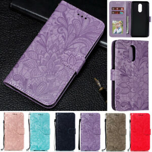 Flowers-Wallet-cuir-Flip-Stand-Case-Cover-Pour-LG-G8-ThinQ-V40-Stylo-4-Stylo-5