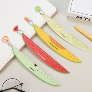 Kunststoff-Lineale-Gerade-Messwerkzeug-Niedlich-Obst-Muster-Schulmaterialie-YT