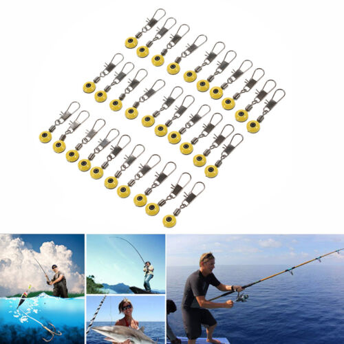 Fishing Float Bobber Stops Space Bean Sinker Connector Rolling Swivel Tackle