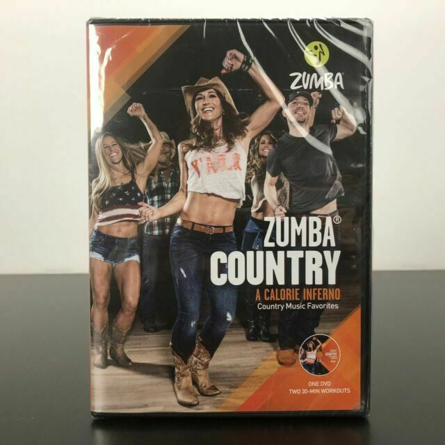 Zumba Country Dance Fitness Music Workout DVD D0D00313 Exercise Videos