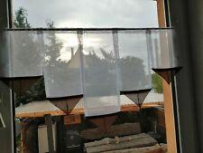 kurze Scheibengardine 100cm Fenster  Sp.Braun Gardine Längen:ca 40,30,40,30,40cm