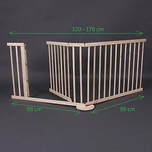 Barrera De Seguridad Para Bebe Niños Mascotas 120 170cm De Madera