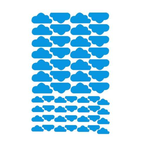 56pcs Lovely Cloud Wall Stickers Wall Art Removable Nursery Kids Bedroom Decal Q