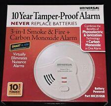 USI Electric 10 Year Tamper-Proof Alarm 3-In-1 Smoke /& Fire Carbon Monoxi. MA4