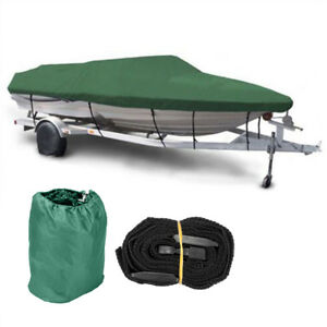 New-16-17-18-Ft-Waterproof-Heavy-Duty-Fabric-Fish-Ski-V-Hull-Boat-Cover-600D